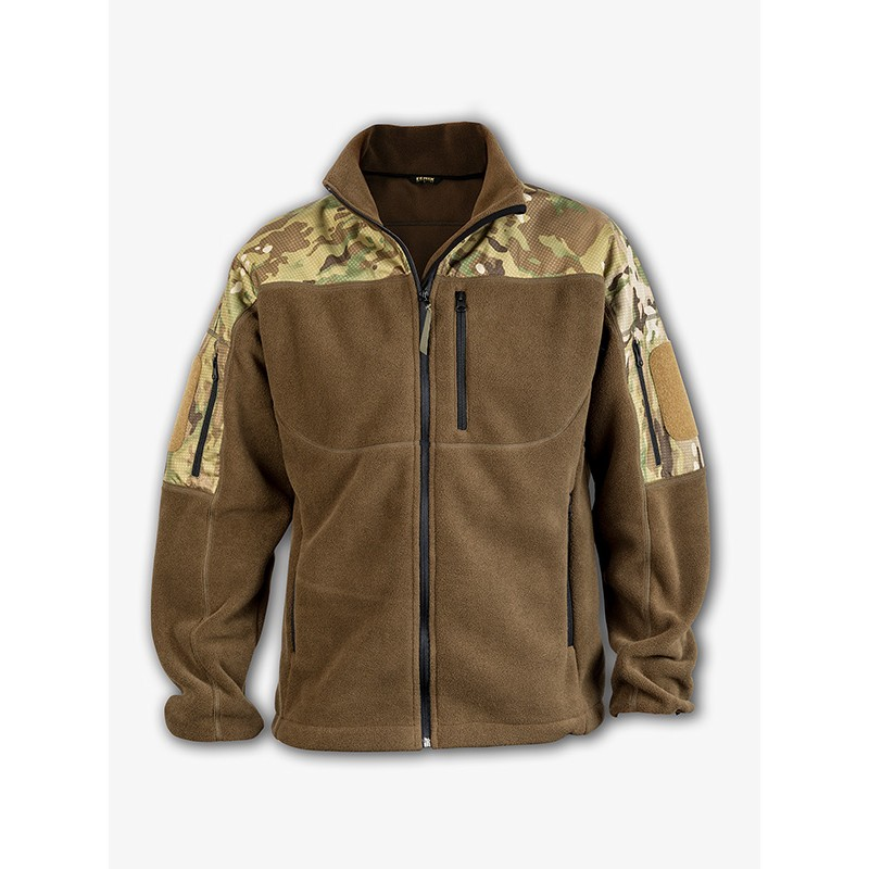 Mikina fleece RAVEN - multicam